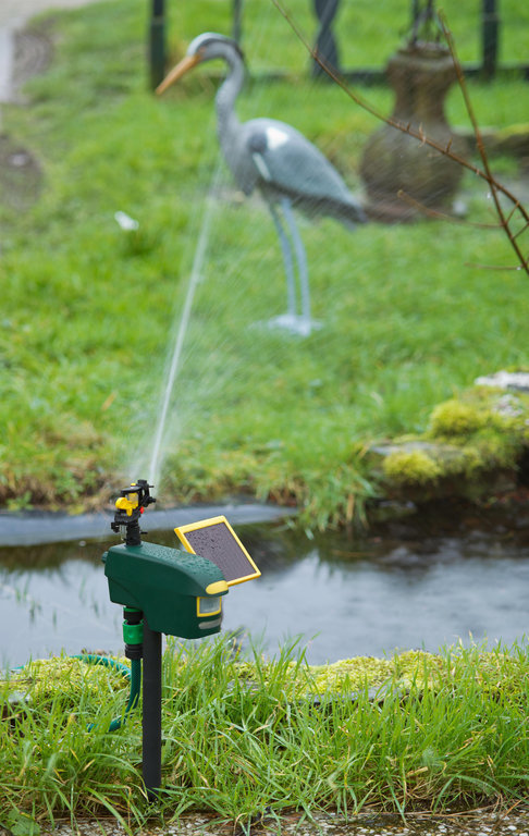 New Scarecrow Motion Activated Sprinkler With Solar Panel